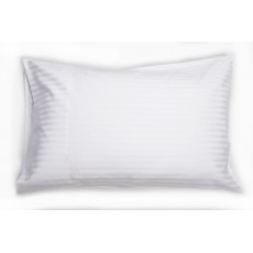 Belledorm Hotel Stripe Standard Pillowcase Pair White