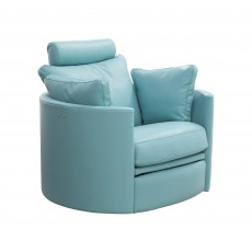 Fama Moon Electric Reclining & Swivel Armchair Ciervo Leather