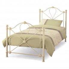 Lyon Metal Single (90cm) Bedstead Ivory Gloss