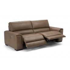 Natuzzi Editions Catania Electric Reclining 3 Seater Sofa With Battery Leather Category 20