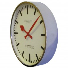 Large Chrome Clock