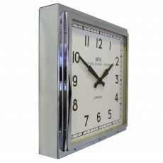 Square Wall Clock Chrome
