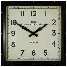 Square Wall Clock Black