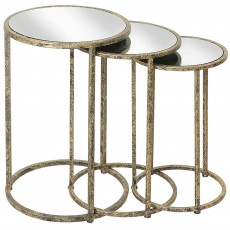 Mindy Brownes Mirror Top Nest of Tables (3)