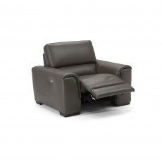 Natuzzi Editions Catania Electric Reclining Armchair With Battery Leather Category 20