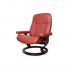 Stressless Consul Small Chair With Classic Base Paloma Leather
