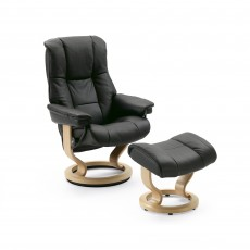 Stressless Mayfair Small Chair With Classic Base + Footstool Batick Leather
