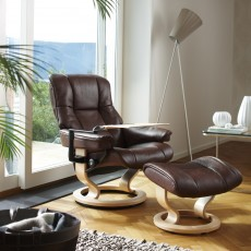 Stressless Mayfair Large Chair With Classic Base + Footstool Batick Leather