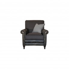 Alexander & James Bertie Accent Chair Leather & Fabric B