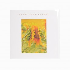 Sunflower Kiss Happy Anniversary Greeting Card