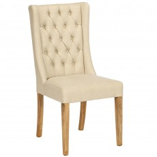 San Agosto Spruce Wood Harriett Upholstered Dining Chair