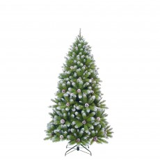 Empress Spruce 185cm Christmas Tree with Cones & Frosted Tips