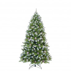 Empress Spruce 215cm Christmas Tree with Cones & Frosted Tips