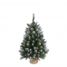 Empress 60cm Spruce Green Christmas Tree with Burlap
