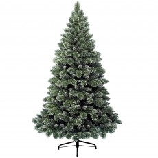 150cm/5ft Frosted Finley Pine Christmas Tree Green/White