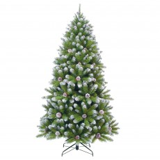 Empress Spruce 260cm Christmas Tree with Cones & Frosted Tips