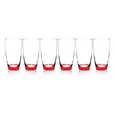 Newgrange Living Set of 6 Vienna Red 410cc Tumbler Glasses