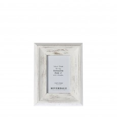 Riverdale Austin White 4'' x 6'' Photo Frame