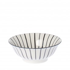 Riverdale Lines Black/White 21cm Bowl
