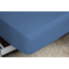 Belledorm 200 Thread Count Fitted Sheet Double Cobalt