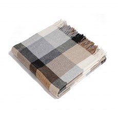 Conny 130cm x 170cm Grey & Beige Check Throw