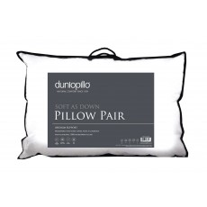 Dunlopillo ''Soft as Down'' Pillow Pair