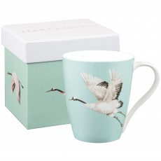 Churchill Harlequin ''Cranes In Flight'' Emerald Mug
