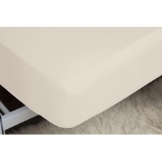 Belledorm 100% Brushed Cotton King Fitted Sheet (12'') Cream