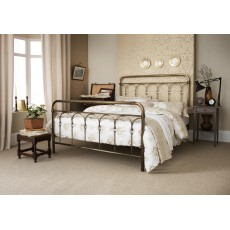 Shilton King Antique Brass Bedstead