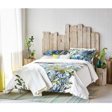 Harlequin Floreale 150cm x 200cm Quilted Throw Ocean