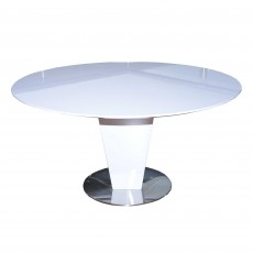 Alessandria 4-6 Person Round Dining Table White