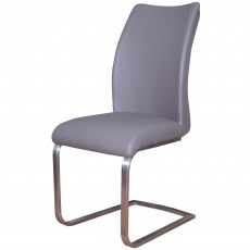 Paderna Dining Chair Faux Leather Grey