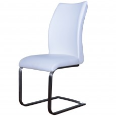 Paderna Dining Chair Faux Leather White