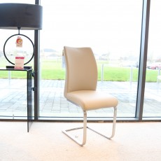 Paderna Dining Chair Faux Leather Cream