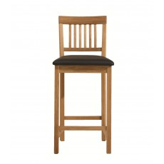 Royal Oak Bar Stool C/W Black Faux Leather Seat Pad