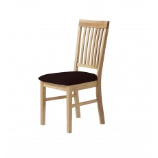 Royal Oak Slatted Dining Chair C/W Brown Bi-Cast Seat Pad