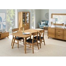 Bjorn Oak 4-6 Person Extending Dining Table
