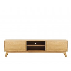Bjorn Oak Wide 2 Door TV Unit