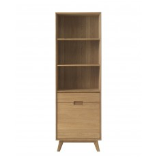 Bjorn Oak Open Shelving Display Cabinet