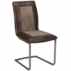 Timothy Brown PU Leather look Dining Chair