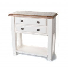 Aquitane Weathered Oak White Console Table