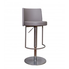Monza Bar Stool Faux Leather Taupe