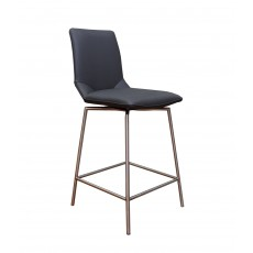 Davy Tatra Swivel Bar Stool Faux Leather Anthracite