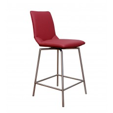 Davy Tatra Red Swivel Bar Stool