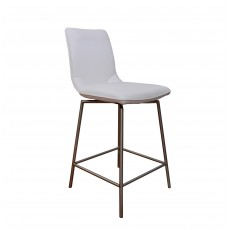 Davy Tatra Swivel Bar Stool Faux Leather White