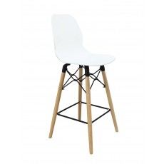 Mask Bar Stool White