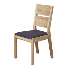 Castillo Wild Oak Slatted Dining Chair c/w Fabric Seat Pad