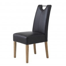 Castillo Wild Oak Leather Look Dining Chair