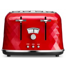 De'Longhi Brillante Red 4 Slice Toaster