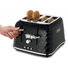 De'Longhi Brillante Black 4 Slice Toaster